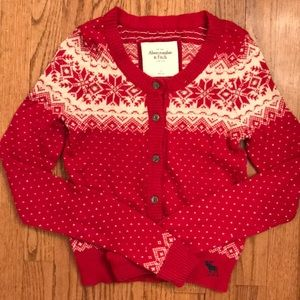 Abercrombie & Fitch NWOT S red cardigan sweater
